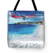 Take Me To Sxm- Poster Tote Bag