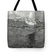Take Off At Dusk - The Rendering Tote Bag