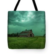 Take Shelter Again Tote Bag