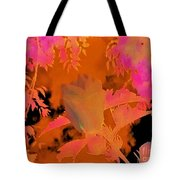 Take Three Floral Abstract Tote Bag