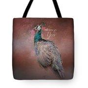 Take Time For You - Peacock Art Tote Bag