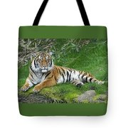 Takin It Easy Tiger Tote Bag