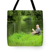 Taking A Break From Fishing Tote Bag