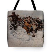 Taking A Snow Town Tote Bag