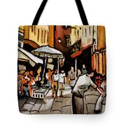 Taking A Stroll Through Downtown Tote Bag