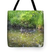 Taking A Stroll With Mom Troughs Floral Reflections Tote Bag
