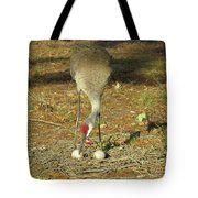Taking Care Of Her Eggs  Tote Bag