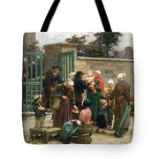 Taking In Foundlings Tote Bag by Leon Augustin Lhermitte