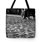 Taking On The Cobbles Tote Bag