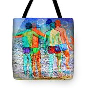 Taking The Plunge Together Tote Bag