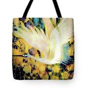 Taking Wing Above The Garden - Kimono Series Tote Bag