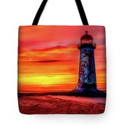 Talacre Lighthouse - Wales Tote Bag