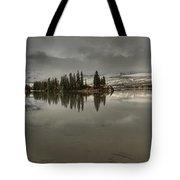 Talbot Lake Stormy Panorama Tote Bag