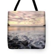 Talisker Bay Boulders At Sunset Tote Bag