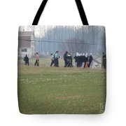Talking After The Volleyball Game Tote Bag