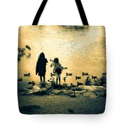 Talking To Ducks Tote Bag