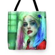 Talking To Harley Quinn - Aquarell Style Tote Bag