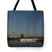 Tall Boats In The Morning Tote Bag