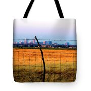 Tall City Morning Tote Bag