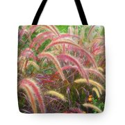 Tall, Colorful, Whispy Grasses In The Sumer Breeze Tote Bag