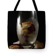 Tall Crystal Vase With Rose Petals Tote Bag