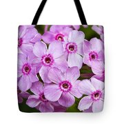 Tall Garden Phlox Tote Bag