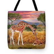 Tall Love From Above Tote Bag