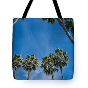 Tall Palms Meet The Sky Tote Bag