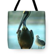 Tall Pelican Tote Bag