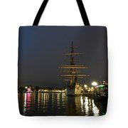 Tall Ship Docked At The Baltimore Inner Harbor Tote Bag