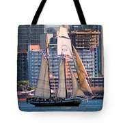 Tall Ship In San Diego  Tote Bag