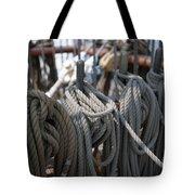 Tall Ship Lines Vi Tote Bag