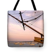 Tall Ship Mayflower II In Plymouth Massachusetts Tote Bag
