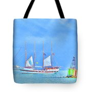 Tall Ship Windy Tote Bag