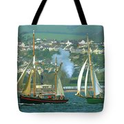 Tall Ships And Steam Trains Tote Bag