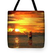 Tall Ships And The Trade Route Tote Bag