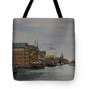 Tall Ships At Gloucester Docks Tote Bag