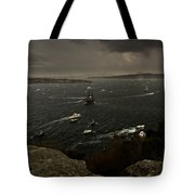 Tall Ships Heavy Rain And Wind In Sydney Harbour Tote Bag