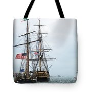 Tall Ships Hms Bounty And Privateer Lynx At Peanut Island Florida Tote Bag