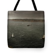 Tall Ships In The Entrance Of Sydney Harbour Tote Bag