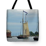 Tall Ships Sailing II Tote Bag by Suzanne Gaff