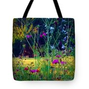 Tall Wisphy Flowers Of Pink Tote Bag