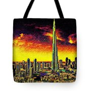 Tallest Building In The World Tote Bag