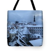 Tallin Old Town Skyline Tote Bag