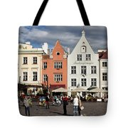 Tallinns Town Hall Square Tote Bag