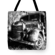 Tam Truck Black And White Tote Bag
