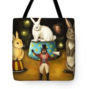 Taming Of The Giant Bunnies Tote Bag