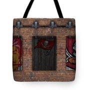 Tampa Bay Buccaneers Brick Wall Tote Bag