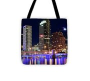 Tampa Bay Pano Lights Tote Bag