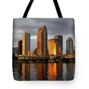 Tampa In Reflection Tote Bag